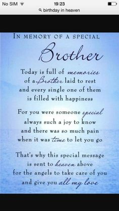 Discover and share Missing My Brother Quotes. Explore our collection of motivational and famous quotes by authors you know and love. My Brother Quotes, Brother Poems, Birthday Wishes For Brother, Sister Poem, Mom Poems, Daughter Poems, Birthday Poems, Brother Bear, Girlfriend Quotes