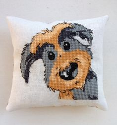 Handmade Recycled Embroidery Little Cute Dog by NellysLittleGifts, €12.00