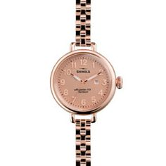 THE BIRDY 34mm Women's Rose Gold Watch with Date