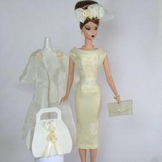 Handmade-Vintage-Barbie-Silkstone-Fashion-by-Roxy-Creamy-Organza-Outfit-11pcs