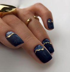 Square Nail Designs, Short Nail Designs, Nail Art Designs, Nails Design, Navy Nail Designs, Cute Simple Nail Designs, Summer Nail Designs, Natural Nail Designs, Stylish Nails