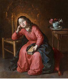 Francisco de Zurbarán. Virgen Niña dormida, c. 1655
