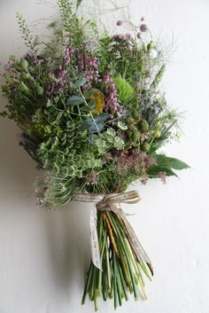 Wild Flowers & Grasses wedding Bouquet. The wedding is rustic themed and i like the non traditional wildness of this bouquet