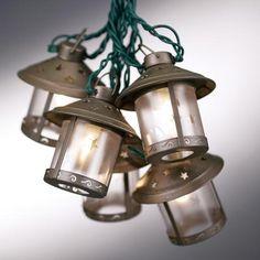 Old Fashioned Metal Moon Lantern Party String Lights Lampsplus Com