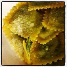 """Tortelli verdi with butter & Parmigiano Reggiano """"La degna fine di u..."""