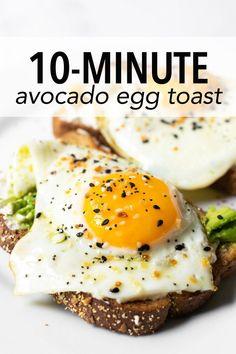 Avocado Breakfast, Breakfast Toast, Savory Breakfast, Avocado Egg Toast, Brunch Recipes, Breakfast Recipes, Dinner Recipes, Breakfast Ideas, Avocado Recipes