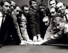 Frank SInatra, Dean Martin and The Rat Pack in the original OCEANS 11 (1960).