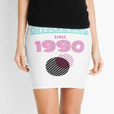'Amazing since 1990 ' Mini Skirt by mikenotis Free Stickers, Knitted Fabric, Awesome, Amazing, Mini Skirts, Knitting, Printed, Shop, Design