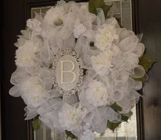 Personalized Bridal Shower Decoration Wedding by OccasionsBoutique Bridal Shower Wreaths, Wedding Shower Decorations, Wedding Wreaths, Wedding Crafts, Bridal Showers, Wedding Ideas, Summer Deco, Different Holidays, July 15
