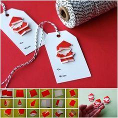 Creative Ideas - DIY Cute Origami Santa