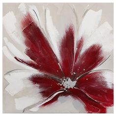 Tableau - Fleur rouge métallique/TABLEAUX/DÉCOR MURAL|Bouclair.com