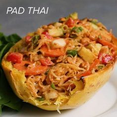 Pad Thai Spaghetti Squash by Tasty
