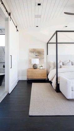 Modern Master Bedroom, Master Bedroom Design, Home Decor Bedroom, Bedroom Ideas, Master Bedrooms, Modern Canopy Bed, Bedroom Romantic, Modern Bedrooms, Bedroom Rustic