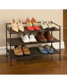 Shoe Rack 3 Tier Shelf Shelves Storage Organize Store Goods Dry Food Toys Wooden in Home, Furniture & DIY, Storage Solutions, Shoe Storage Wooden Shoe Racks, Diy Shoe Rack, Shoe Storage, Storage Shelves, Storage Organization, Diy Storage, Storage Ideas, Stackable Shoe Rack, Air Vent Covers