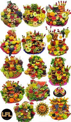 Fruit Tables, Fruit Buffet, Fruit Dishes, Fruit Decorations, Food Decoration, Edible Fruit Arrangements, Deco Fruit, Creative Food Art, Food Carving