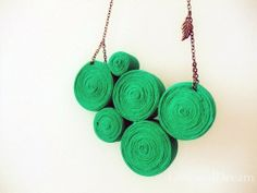 Tree Jersey Statement Necklace by LoveandDream on Etsy