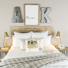 Play it simple! Complete your space with minimalistic gold and galvanized accents.