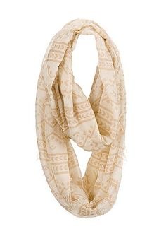 contrast tribal print infinity scarf (original price, $14) available at #Maurices