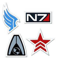 """""""Mass Effect"""" Patches - Paragon, System Alliance and Renegade. Mass Effect Tattoo, Mass Effect 3, Clothing Patches, Electronic Art, Dark Horse, Logos, Image, Airsoft Ideas, Ea Sports"""