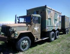 This is the ultimate prepper item! A REO Motors Inc. 2 1/2 ton, 6x6, M-109, Shop Van Truck with a Modified Shop Van Trailer! A bug out vehicle with a matching trailer! On Government Liquidation.