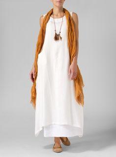88d0efb79a Linen Sleeveless Long Dress Miss Me Outfits