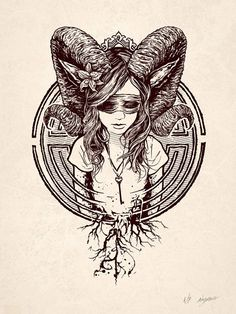 Faun Letterpress by AngryBlue (Justin Kamerer) Art And Illustration, Widder Tattoos, Art Sketches, Art Drawings, Arte Obscura, Wow Art, Piercing Tattoo, Horror Art, Graphic