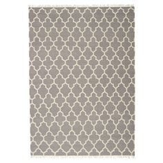 Anchor your scheme in style with this hand-woven rug, featuring a geometric Moroccan clover motif. Product: Rug Const...