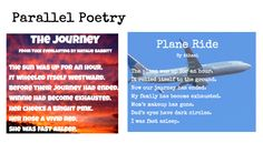 Parallel Poetry - turn a passage from a book into a poem, then make your own poem, using lesson from ReadWriteThink