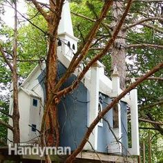 TREE HOUSE – amazing treehouse! Building Tips - Article: The Family Handyman