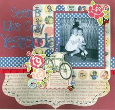Seems Like Only Yesterday ~ adorable retro style page.