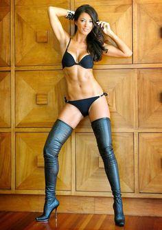 Black Over the Knee Boots Arollo model: Ferari