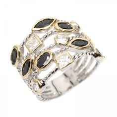 Ananda Confetti Sterling Silver and  Crystal Ring is inspired by David Yurman  I have this ring and LOVE it!!!