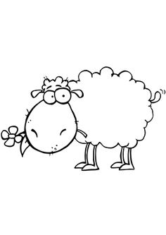 sheep clipart image cartoon sheep eating a flower when i become a rh pinterest com Sheep Clip Art Black and White Free Monkey Clip Art Black and White