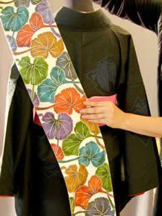 半巾帯の結び方 素敵な帯結び その1 ■リボン結び(三春太鼓)