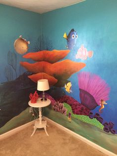 Finding Nemo Nursery. My mom, awesome friend and I hand painted this
