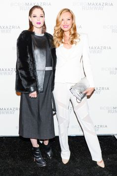 Coco Rocha and Petra Nemcova in BCBG #NYFW Fall 2015 | Sup3rb