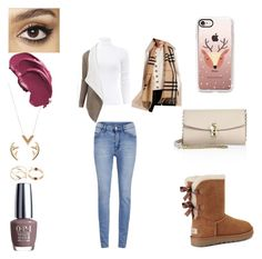 """Untitled #158"" by giovannasancoelho ❤ liked on Polyvore featuring Michael Kors, Burberry, Cheap Monday, UGG, Dolce&Gabbana, Louis Vuitton, OPI, Charlotte Tilbury and Casetify"