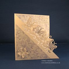 Used the Die'sire Edge'ables Butterfly die and Phill Martin papers