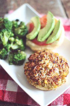 Cheesy Quinoa Burgers  {Simple, Clean, Delicious!}