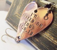 Hooked on You Fishing Lure Custom Men Gift Meaningful Gifts Valentines Day for Husband Love You for Boyfriend Outdoors Rustic Sports Man on Etsy, $19.00