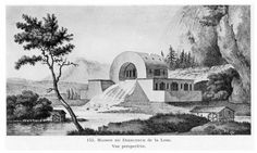 18TH CENTURY, France -Claude Nicolas Ledoux (1735-1806): Project for the ideal city of Chaux: House of supervisors of the source of the Loue. Published in 1804