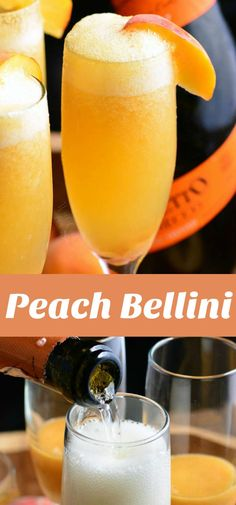 This Peach Bellini is an easy and refreshing cocktail made… Peach Bellini recipe. This Peach Bellini is an easy and refreshing cocktail made with fresh peach puree, a little honey for sweetness, and Prosecco. Purple Cocktails, Prosecco Cocktails, Refreshing Cocktails, Bellini Cocktail, Champagne Drinks, Champagne Breakfast, Drink Recipes, Deserts, Bebe