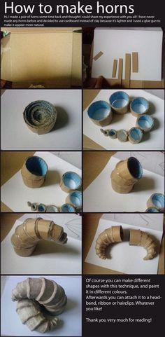 How to make horns from cardboard and hot glue. How to make horns from cardboard and hot glue. How to make horns from cardboard and hot glue. The post How to make horns from cardboard and hot glue. appeared first on New Ideas. Cosplay Diy, Halloween Cosplay, Halloween Diy, Cosplay Costumes, Horns Costume, Cosplay Horns, Demon Costume, Cosplay Makeup, Costume Makeup