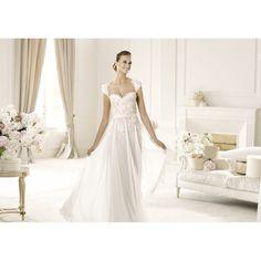 lace chiffon wedding dress - Google Search