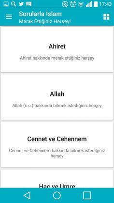 sorularla islam android uygulamasına ait ana ekran görüntüsünün yatay halidir.