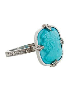Cathy Waterman Turquoise Cameo Ring