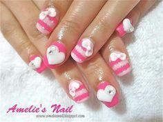 Ribbon Kawaii Nails