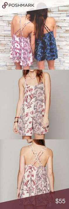 •Free People• Blush Tones Floral Romper The perfect summer addition to any closet! This romper has the one and done feel that's perfect for any occasion this summer! Add your favorite wedges and hat and you're ready to go! Worn once and is in like new condition. Size Medium. Free People Pants Jumpsuits & Rompers