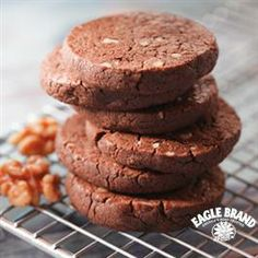 Super Fudgy #Chocolate #Cookies from Eagle Brand®