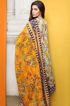 Khaadi 2 Piece Stitched Embroidered Lawn Suit - M17102-B - Beige - libasco.com    #khaadi #khaadionline #khadiclothes #khaadi2017 #kaadisummer